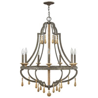 Cordoba 7 Light 30 inch Distressed Iron Chandelier Ceiling Light, Single Tier