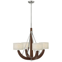 Fredrick Ramond Cameron 4 Light Chandelier in Polished Chrome FR42344PCM