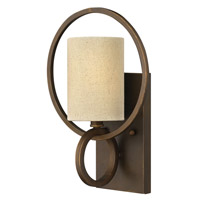 Pandora 1 Light 10 inch Brushed Cinnamon Sconce Wall Light