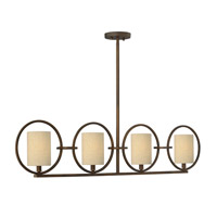 Pandora 4 Light 45 inch Brushed Cinnamon Chandelier Ceiling Light