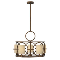 Pandora 5 Light 24 inch Brushed Cinnamon Chandelier Ceiling Light