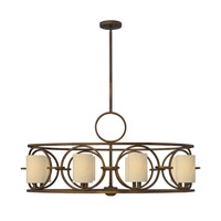 Fredrick Ramond Pandora 8 Light Chandelier in Brushed Cinnamon FR42408BRC