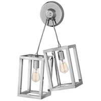 Ensemble 2 Light 18 inch Polished Nickel Sconce Wall Light