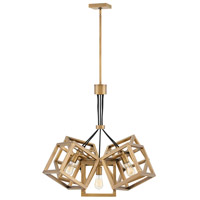 Ensemble 5 Light 31 inch Brushed Bronze Chandelier Ceiling Light, Single Tier
