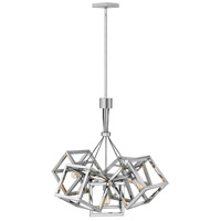 Ensemble 5 Light 31 inch Polished Nickel Chandelier Ceiling Light, Single Tier