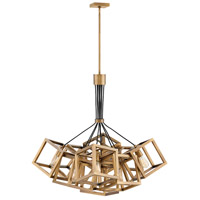 Fredrick Ramond FR42445BBZ Ensemble 9 Light 36 inch Brushed Bronze Chandelier Ceiling Light, Single Tier