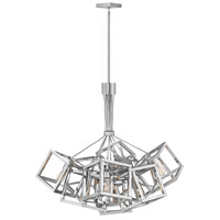 Fredrick Ramond FR42445PNI Ensemble 9 Light 31 inch Polished Nickel Chandelier Ceiling Light, Single Tier
