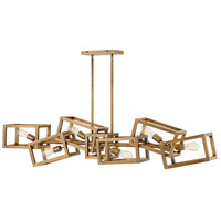 Ensemble 6 Light 62 inch Brushed Bronze Linear Chandelier Ceiling Light