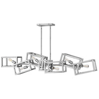Ensemble 6 Light 62 inch Polished Nickel Linear Chandelier Ceiling Light
