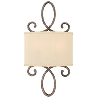 Monterey 2 Light 10 inch Brushed Merlot Sconce Wall Light