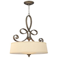 Monterey 4 Light 24 inch Brushed Merlot Inverted Pendant Ceiling Light