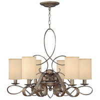 Monterey 6 Light 31 inch Brushed Merlot Foyer Chandelier Ceiling Light