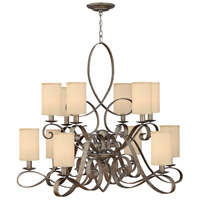 Fredrick Ramond FR42508BME Monterey 12 Light 44 inch Brushed Merlot Foyer Chandelier Ceiling Light, Two Tier