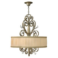 Fredrick Ramond Celeste 4 Light Chandelier in Silver Leaf FR42644SLF