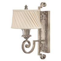 Kingsley 1 Light 9 inch Silver Leaf Sconce Wall Light