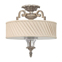 Kingsley 3 Light 16 inch Silver Leaf Semi Flush Ceiling Light