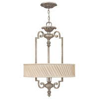 Kingsley 3 Light 20 inch Silver Leaf Foyer Light Ceiling Light