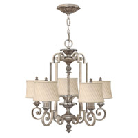Kingsley 5 Light 26 inch Silver Leaf Chandelier Ceiling Light