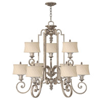 Kingsley 9 Light 45 inch Silver Leaf Chandelier Ceiling Light