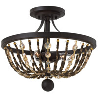 Hamlet 3 Light 15 inch Vintage Bronze Semi Flush Mount Ceiling Light