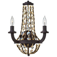 Fredrick Ramond Hamlet 2 Light Sconce in Vintage Bronze FR42862VBZ