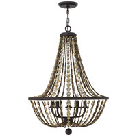 Hamlet 5 Light 24 inch Vintage Bronze Chandelier Ceiling Light, Single Tier