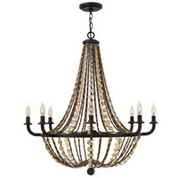 Hamlet 8 Light 34 inch Vintage Bronze Chandelier Ceiling Light, Single Tier