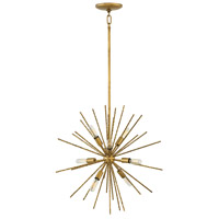 Fredrick Ramond FR43014BNG Tryst 8 Light 22 inch Burnished Gold Chandelier Ceiling Light