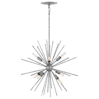 Fredrick Ramond FR43014BNN Tryst 8 Light 22 inch Burnished Nickel Chandelier Ceiling Light