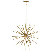 Fredrick Ramond FR43015BNG Tryst 12 Light 30 inch Burnished Gold Chandelier Ceiling Light