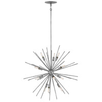 Fredrick Ramond FR43015BNN Tryst 12 Light 30 inch Burnished Nickel Chandelier Ceiling Light