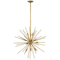 Tryst 12 Light 30 inch Hammered Bronze Pendant Ceiling Light