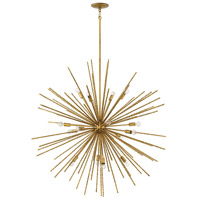 Tryst 16 Light 42 inch Burnished Gold Chandelier Ceiling Light