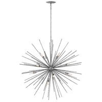 Tryst 16 Light 42 inch Burnished Nickel Chandelier Ceiling Light