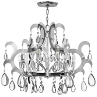 Xanadu 12 Light 35 inch Polished Stainless Steel Foyer Chandelier Ceiling Light, Two Tier
