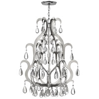 Xanadu 12 Light 31 inch Polished Stainless Steel Foyer Chandelier Ceiling Light, Two Tier