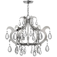 Fredrick Ramond Xanadu 6 Light Chandelier in Polished Stainless Steel FR43354PSS