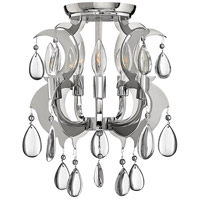 Xanadu 5 Light 15 inch Polished Stainless Steel Semi Flush Mount Ceiling Light