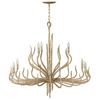 Fredrick Ramond FR43419CPG Spyre 9 Light 38 inch Champagne Gold Chandelier Ceiling Light, Two Tier