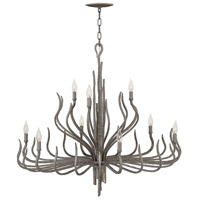 Fredrick Ramond FR43419MMB Spyre 9 Light 38 inch Metallic Matte Bronze Chandelier Ceiling Light, Two Tier