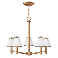 Fredrick Ramond Coco 5 Light Chandelier in Brushed Cashmere FR43605BCA
