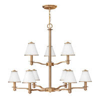 Fredrick Ramond Coco 9 Light Chandelier in Brushed Cashmere FR43608BCA