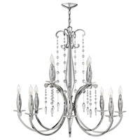 Fredrick Ramond Alexandra 12 Light Chandelier in Polished Nickel FR43628PNI