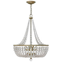 Caspia 4 Light 21 inch Silver Leaf Foyer Light Ceiling Light
