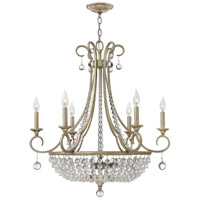 Caspia 9 Light 28 inch Silver Leaf Foyer Chandelier Ceiling Light