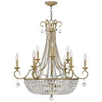 Caspia 12 Light 32 inch Silver Leaf Foyer Ceiling Light, Two Tier