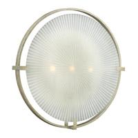 Fredrick Ramond FR43918SLF Helios 3 Light 24 inch Silver Leaf Sconce Wall Light