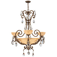 Barcelona 6 Light 35 inch French Marble Foyer Chandelier Ceiling Light in Tinted Natural Alabaster