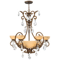 Barcelona 10 Light 37 inch French Marble Foyer Chandelier Ceiling Light in Tinted Natural Alabaster