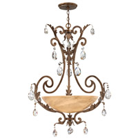 Fredrick Ramond FR44103FRM Barcelona 4 Light 34 inch French Marble Chandelier Ceiling Light in Tinted Natural Alabaster photo thumbnail